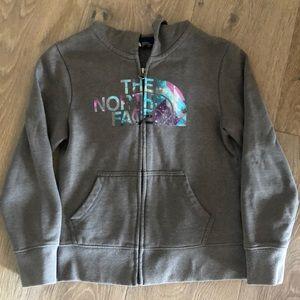 Girls NorthFace hooded sweatshirt